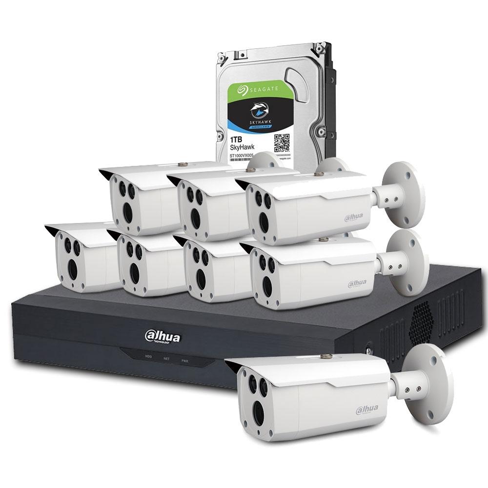 Sistem supraveghere exterior Dahua DH-C8EXT80M-4MP, 8 camere, 4 MP, IR 80 m, 1 TB HDD, IoT imagine spy-shop.ro 2021