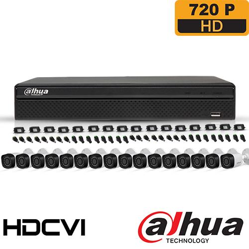 SISTEM SUPRAVEGHERE EXTERIOR HDCVI CU 16 CAMERE VIDEO DAHUA CVI-16EXT20-720P