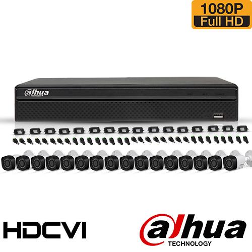 SISTEM SUPRAVEGHERE EXTERIOR HDCVI CU 16 CAMERE VIDEO DAHUA CVI-16EXT30-1080P