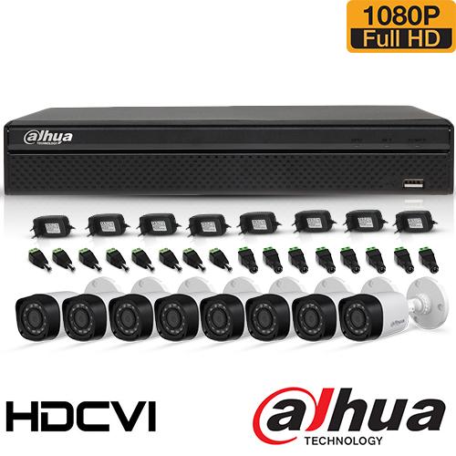 SISTEM SUPRAVEGHERE EXTERIOR HDCVI CU 16 CAMERE VIDEO DAHUA CVI-16EXT20-1080P