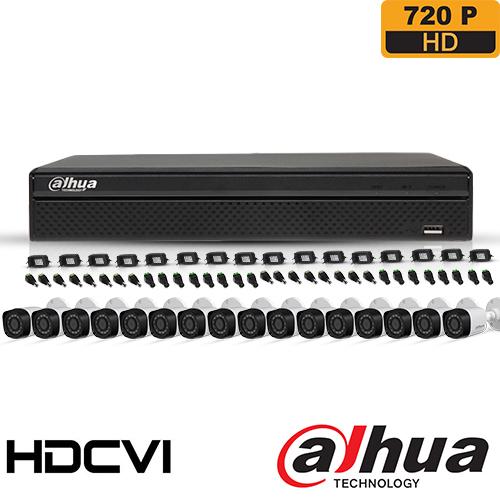 SISTEM SUPRAVEGHERE EXTERIOR HDCVI CU 16 CAMERE VIDEO DAHUA CVI-16EXT30-720P