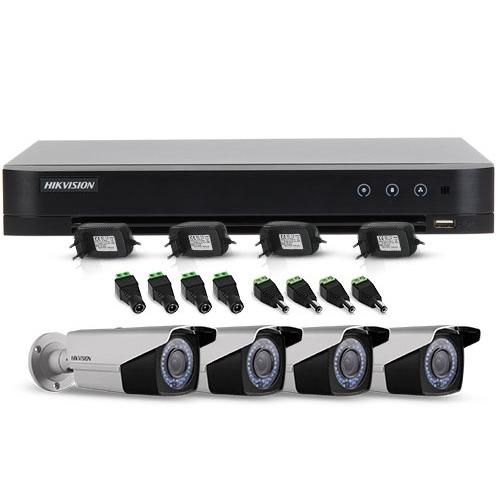 Sistem supraveghere exterior Hikvision TVI-4EXT40-1080P, 4 camere, 2 MP, IR 40 m imagine spy-shop.ro 2021