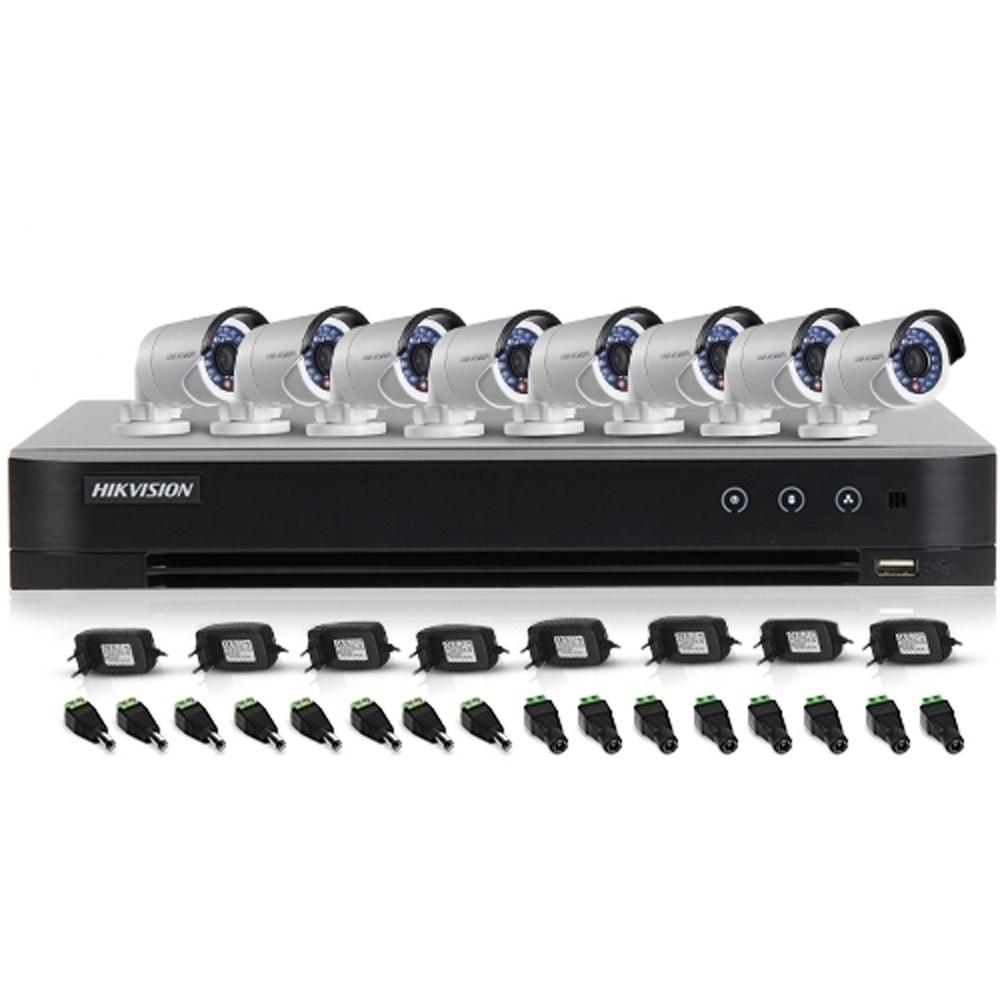 Sistem supraveghere exterior Hikvision TVI-8EXT20-720P, 8 camere, 1 MP, IR 20 m imagine spy-shop.ro 2021