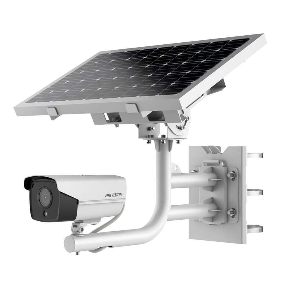 Sistem supraveghere GSM 4G de exterior Hikvision DS-2XS6A25G0-I/CH20S40 cu panou solar, 2 MP, IR 30 m, 2.8 mm, slot card