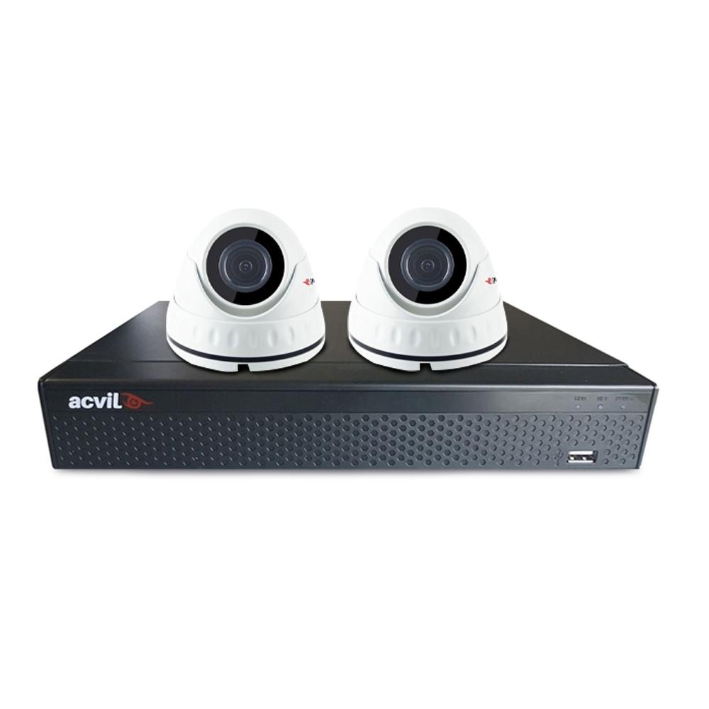 Sistem supraveghere interior basic Acvil B2INT20-5MP, 2 camere, 5 MP, IR 20 m