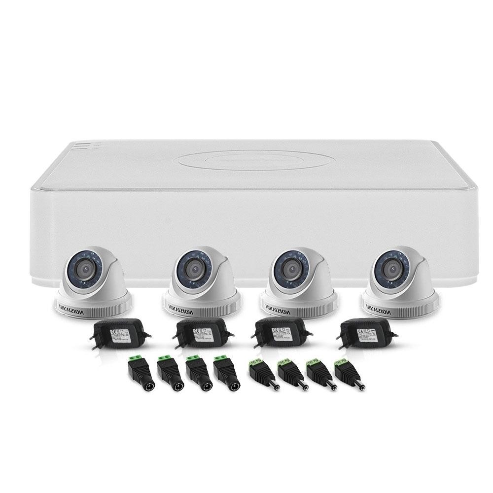 Sistem supraveghere interior Hikvision TurboHD TVI-4INT20-720P, 4 camere, 1 MP, IR 20 m imagine spy-shop.ro 2021