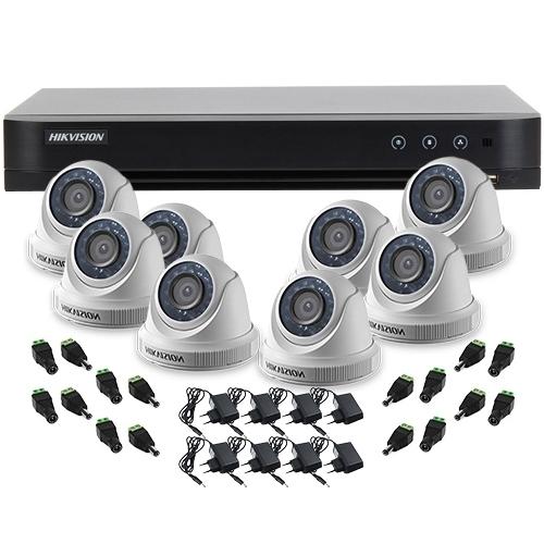 SISTEM SUPRAVEGHERE INTERIOR TURBOHD CU 8 CAMERE VIDEO HIKVISION TVI-8INT20-720P imagine spy-shop.ro 2021