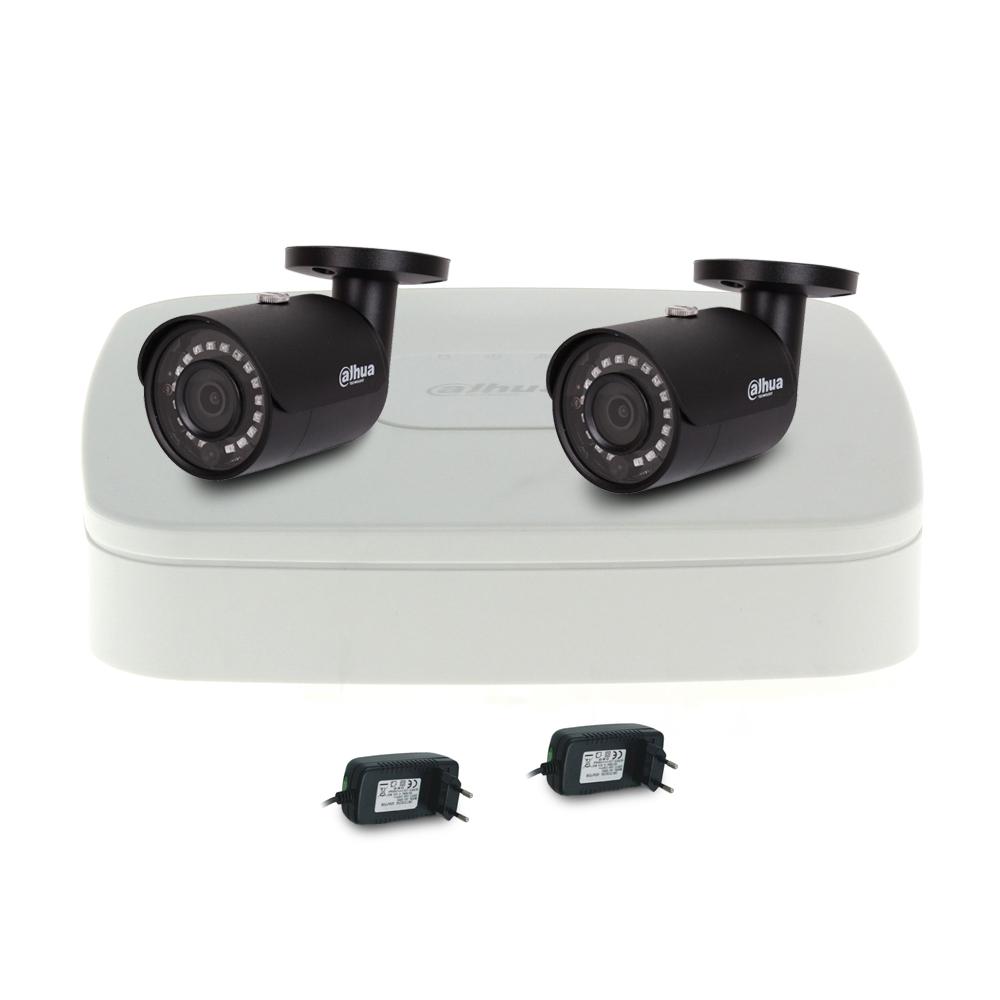 Sistem supraveghere IP exterior basic Dahua DH-IP-B2EXT30-2MP-V2, 2 camere, 2 MP, IR 30 m imagine spy-shop.ro 2021