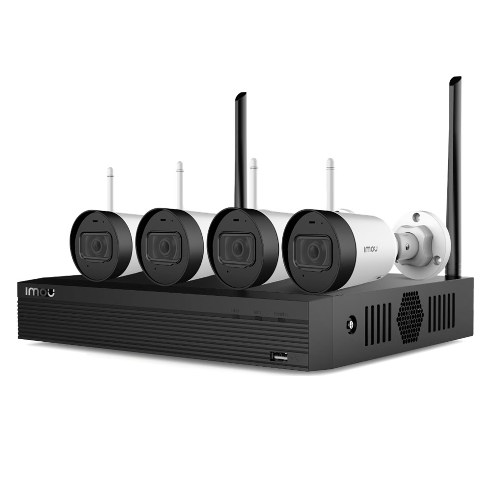 Sistem supraveghere IP exterior WiFi Dahua IMOU KIT/NVR1104HS-W-4KS2/4-G22, 4 camere, 2 MP, IR 30 m, microfon, HDD 1 TB imagine spy-shop.ro 2021