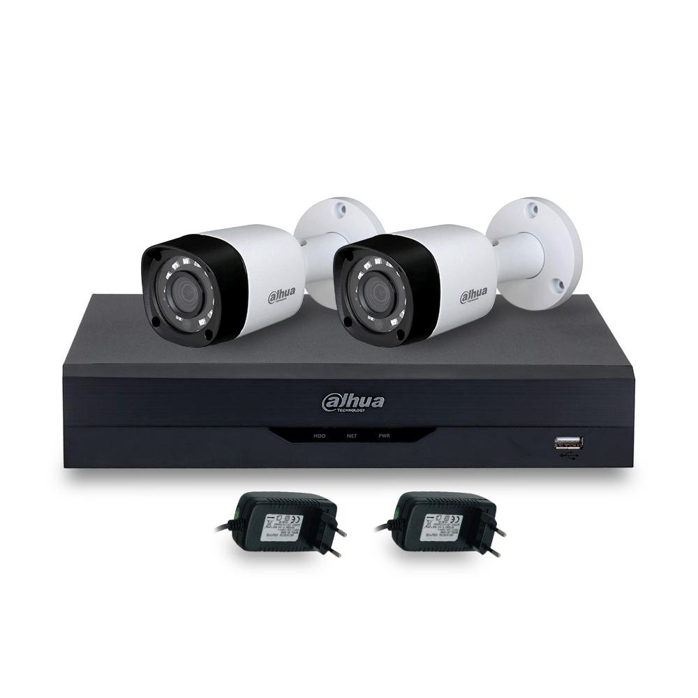 Sistem supraveghere exterior basic Dahua DH-B2XT20-2MP, 2 camere, 2 MP, IR 20 m, POS, IoT imagine spy-shop.ro 2021