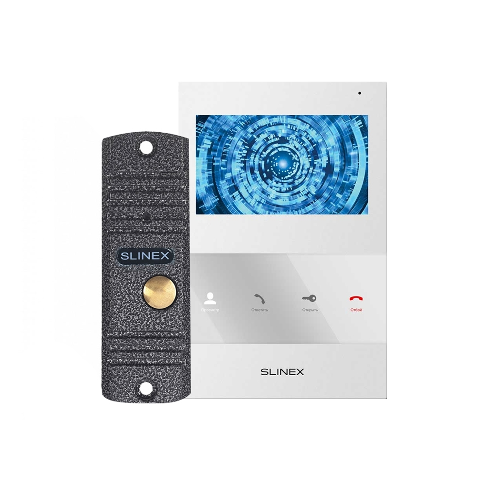 Kit videointerfon Slinex VID-SLI-06-W, 1 familie, aparent, ecran 4 inch