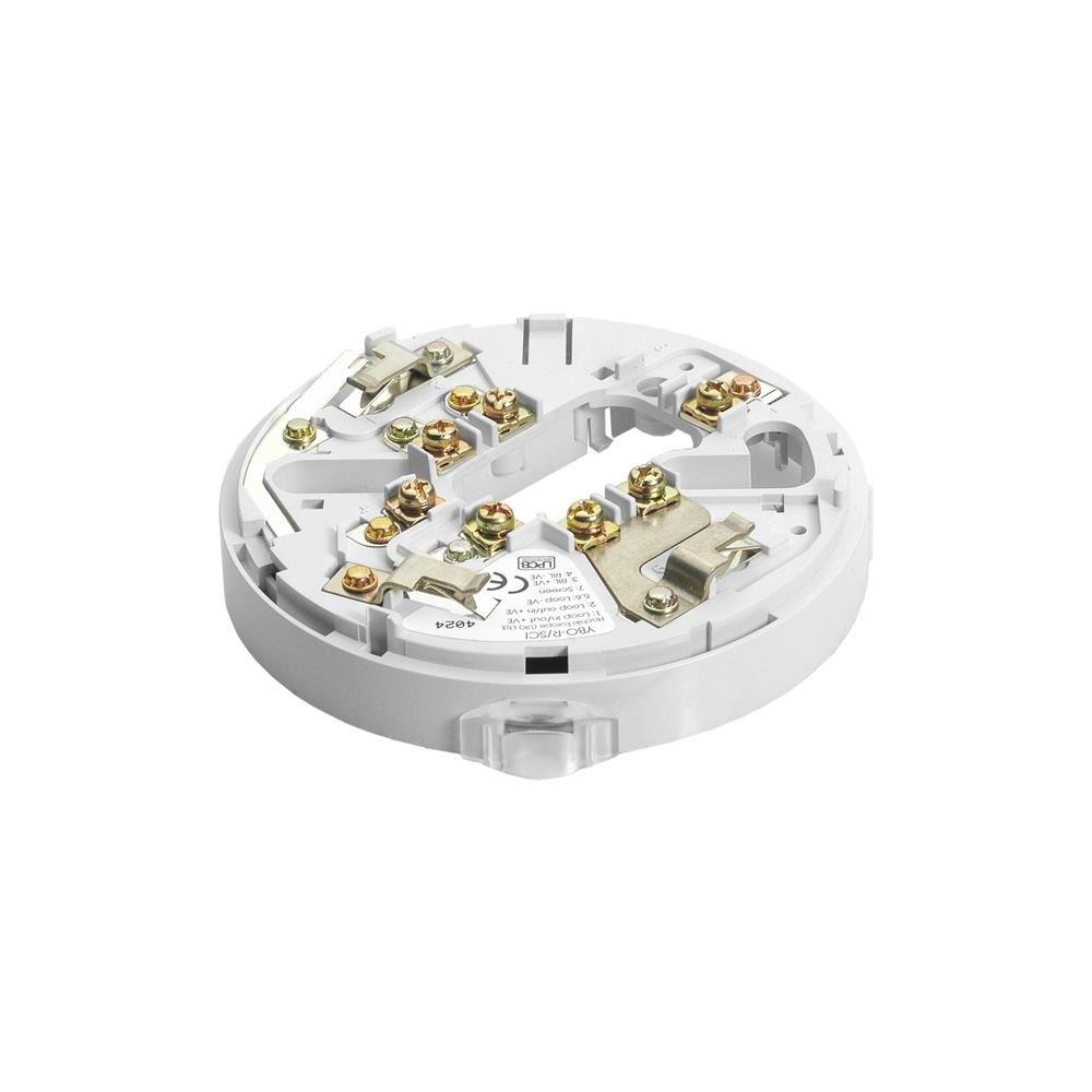Soclu sirena cu izolator la scurt-circuit Hochiki ESP Intelligent YBO-R/SCI(WHT/SNDR), 127 izolatori pe bucla, 17 - 41 VDC, ABS alb