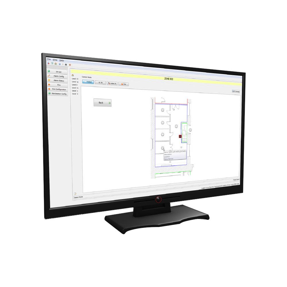 Software Ockular pentru centrala Taktis/Syncro Kentec OTEN2004, 4 centrale
