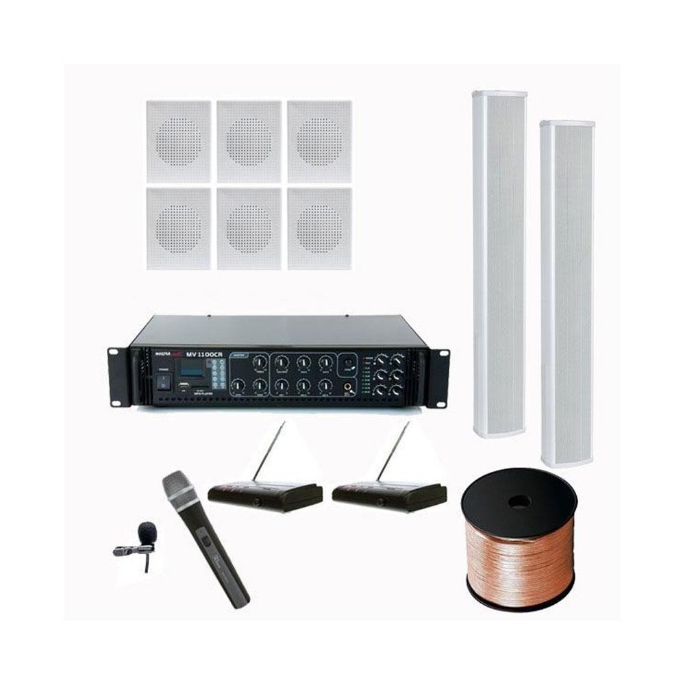 Sonorizare Biserici 7, cu coloane si microfoane wireless