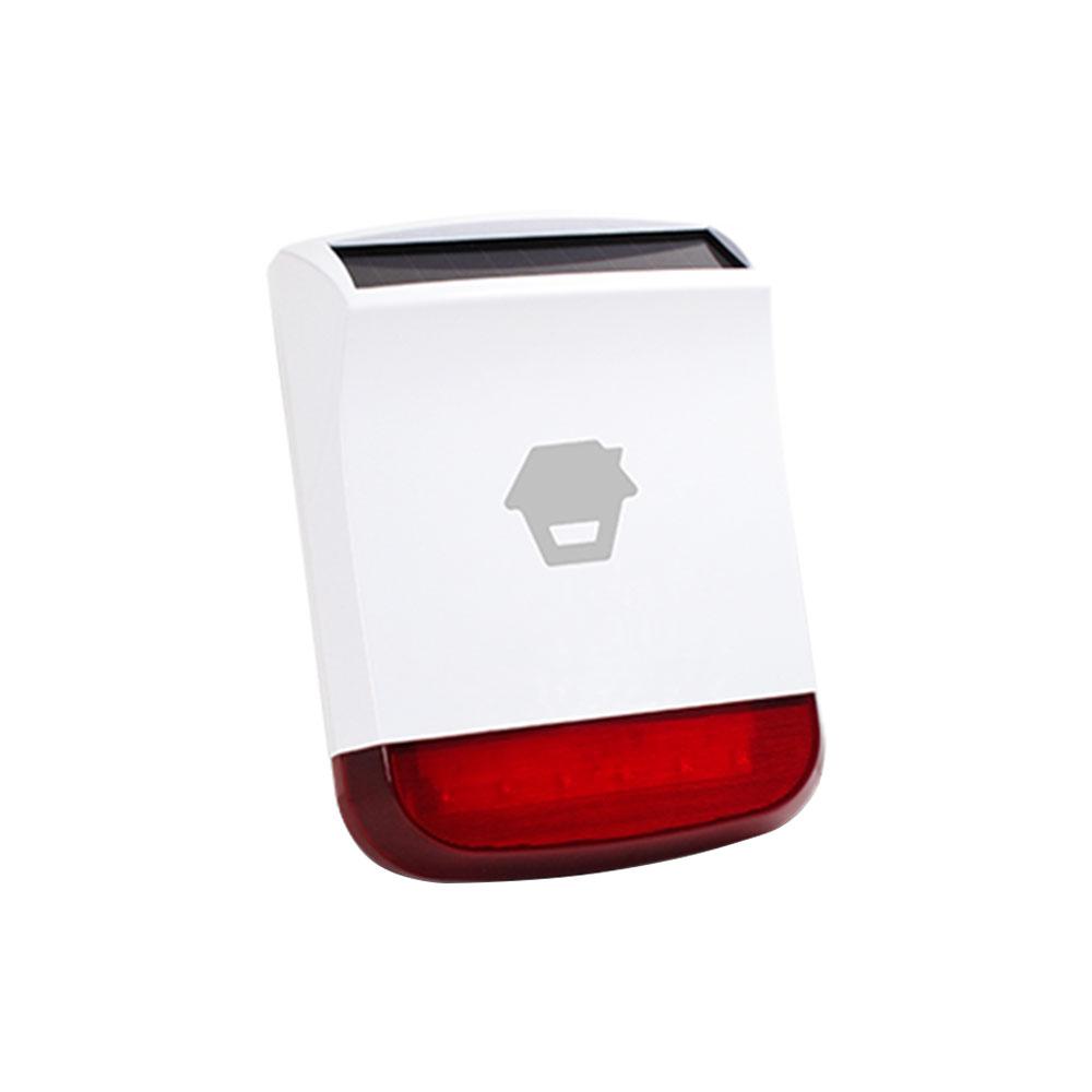 Sirena de exterior stroboscopica wireless cu incarcare solara Chuango SPS-260, 110 dB, RF 80 m, IP65 imagine spy-shop.ro 2021