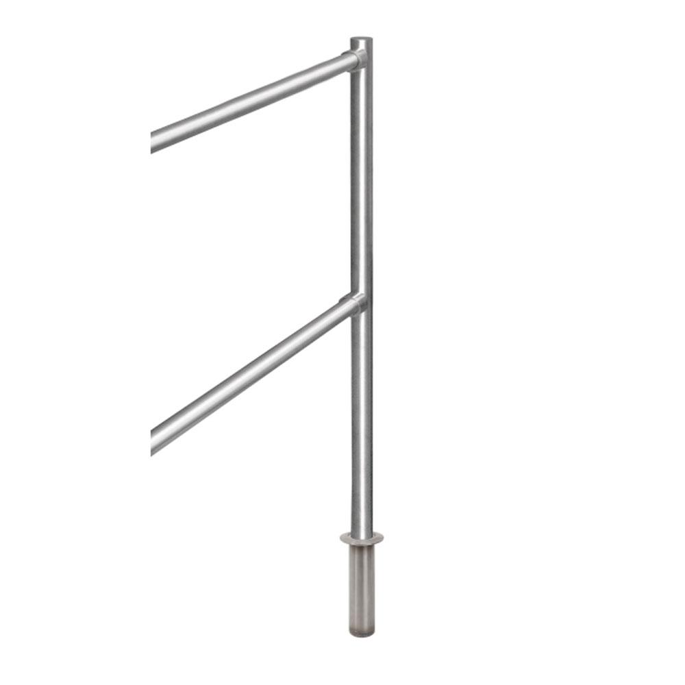 Stalp intermediar de capat pentru suport balustrada K-KIVO, inox, ingropat imagine spy-shop.ro 2021