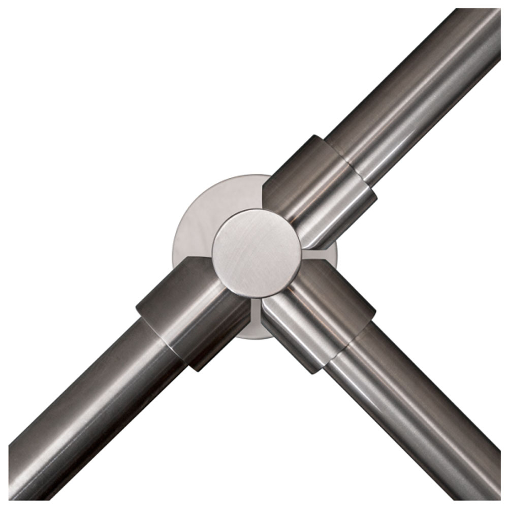 Stalp intermediar in forma de T pentru suport balustrade K-TO, inox, aparent imagine spy-shop.ro 2021
