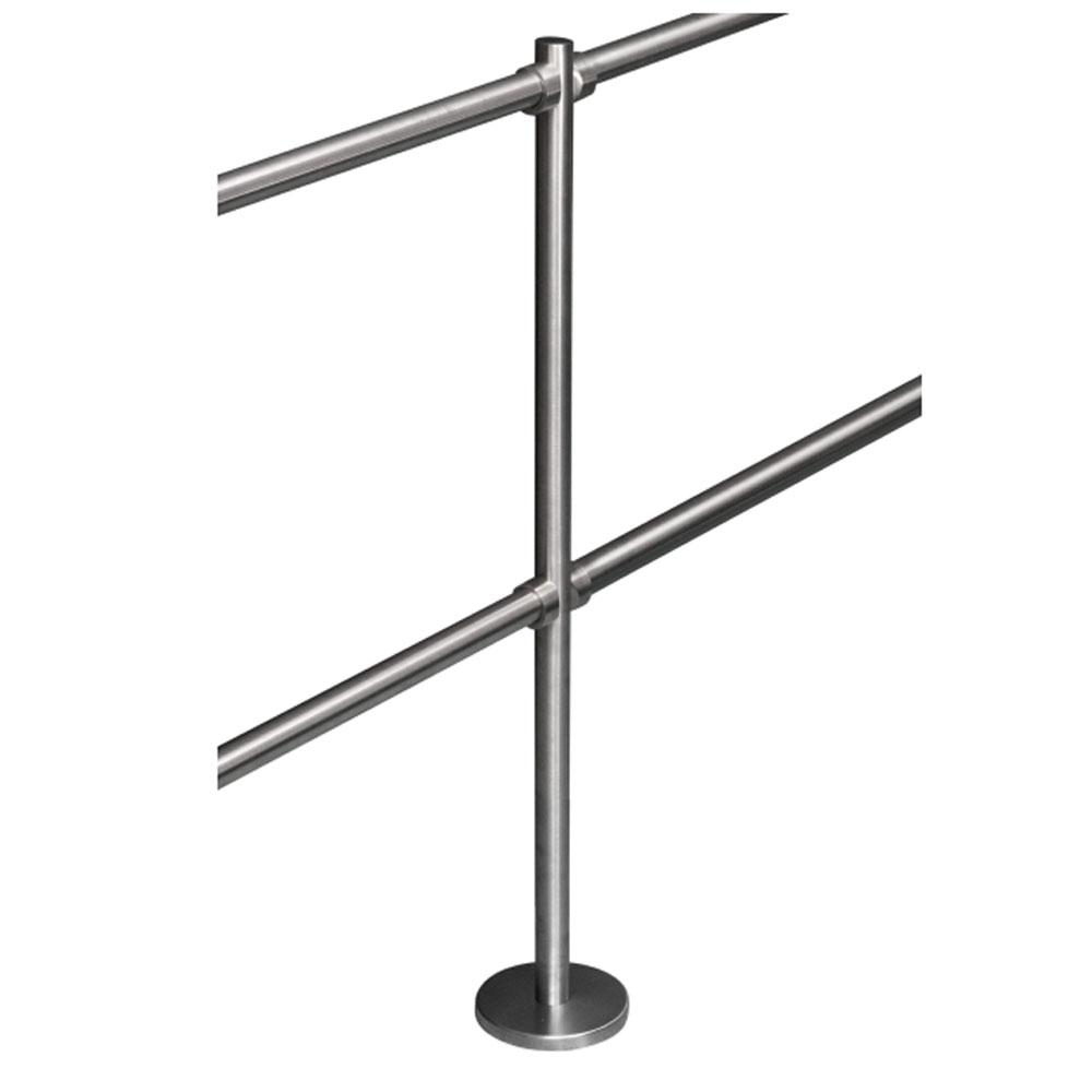 Stalp intermediar pentru suport balustrade K-KO, inox, aparent