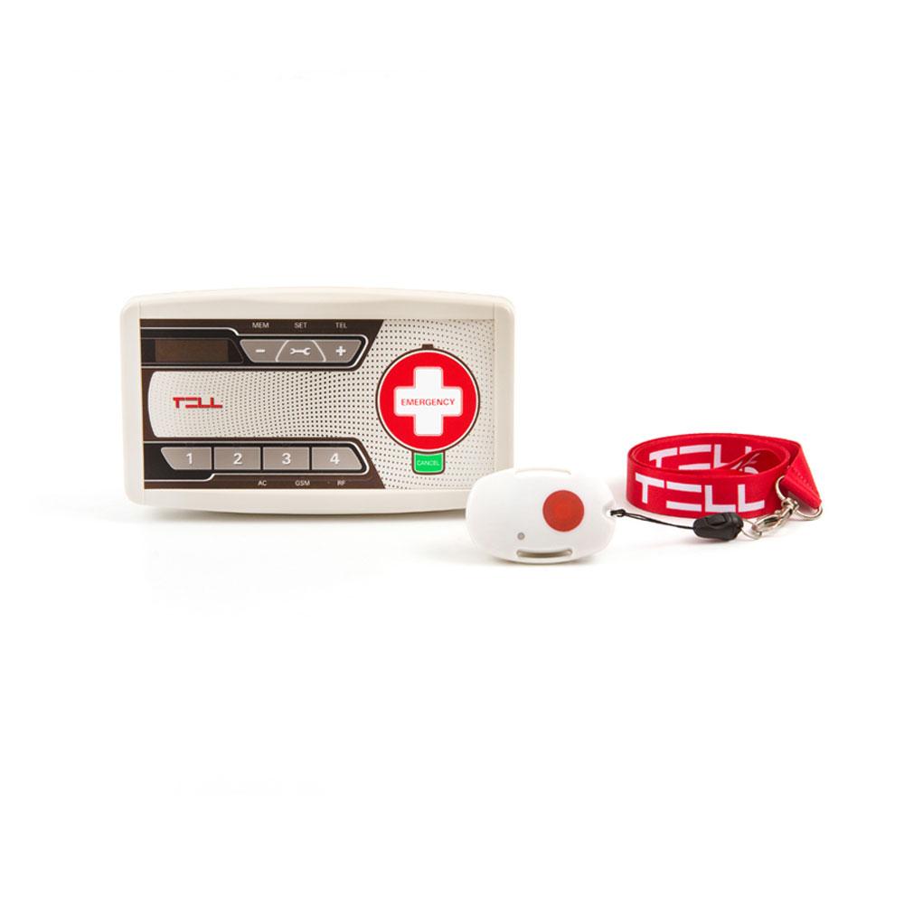 Statie audio de apelare asistenta TELL EasyAid GSM, 4 numere, 1000 evenimente, buton de urgenta