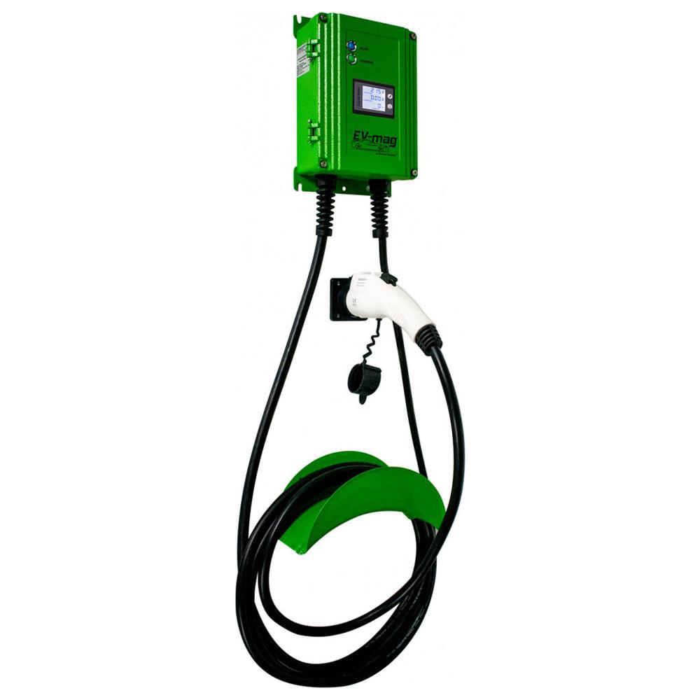 Statie fixa cu ecran pentru incarcare masini electrice EV-MAG GS103T1GC-DN, 3.6 kW, type 1, monofazat