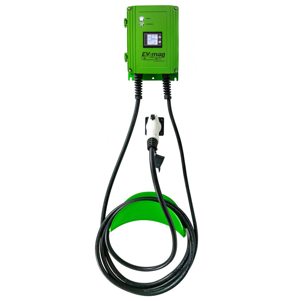 Statie fixa cu ecran pentru incarcare masini electrice EV-MAG GS107T1GC-DN, 7 kW, type 1, monofazat