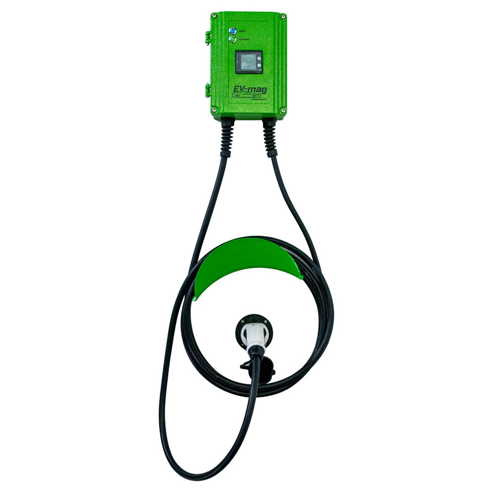 Statie fixa cu ecran pentru incarcare masini electrice EV-MAG GS107T2GC-DN, 7 kW, type 2, monofazat