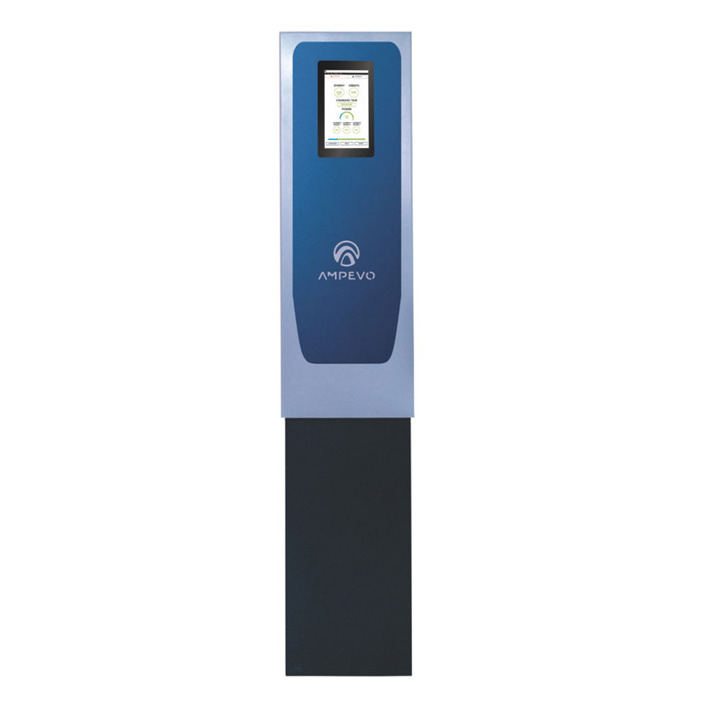 Statie fixa incarcare masini electrice EV-MAG AMP344T2D - IK10, RFID, ecran tactil 10 inch, 2x22 kV, Type 2, trifazat, power management