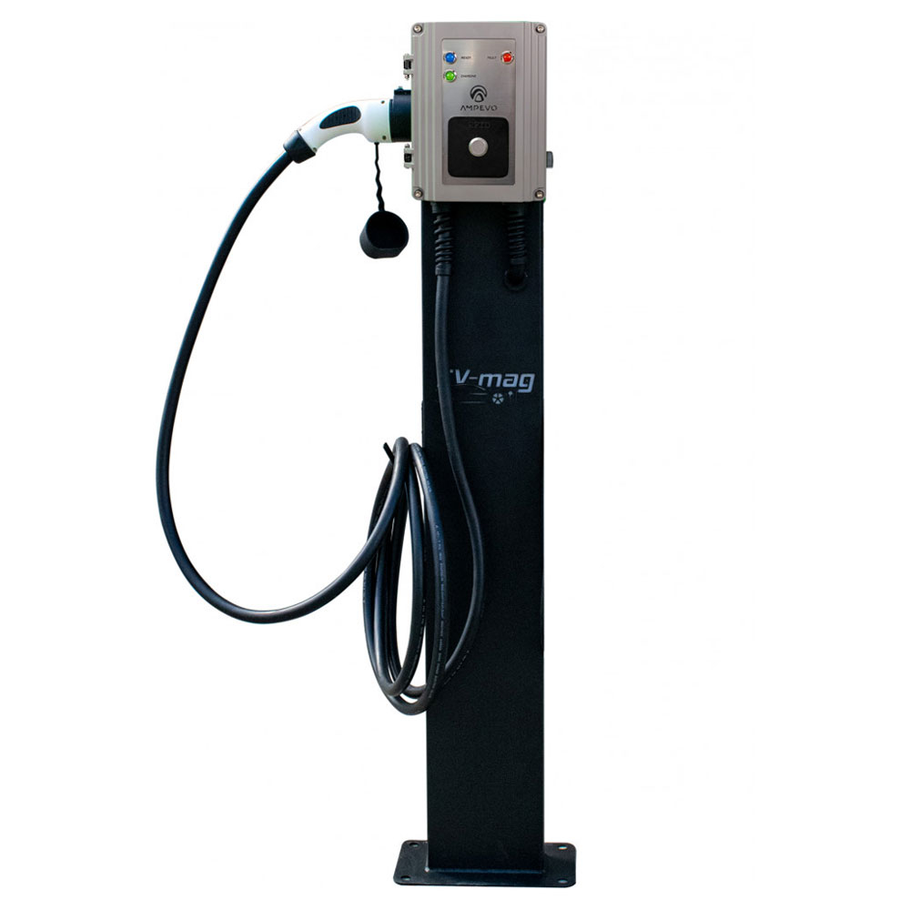 Statie fixa incarcare masini electrice EV-MAG GS107T2GCS-CP, 7 kW, Type 2, monofazat, comutator de putere, montaj pe stativ