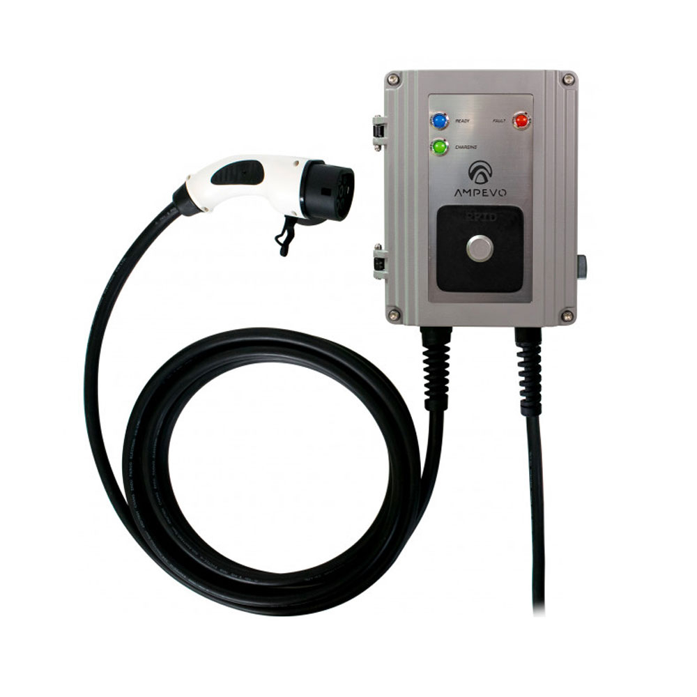 Statie fixa incarcare masini electrice EV-MAG GS322T2GC-CP, RFID, 22 kW, Type 2, trifazat, comutator de putere