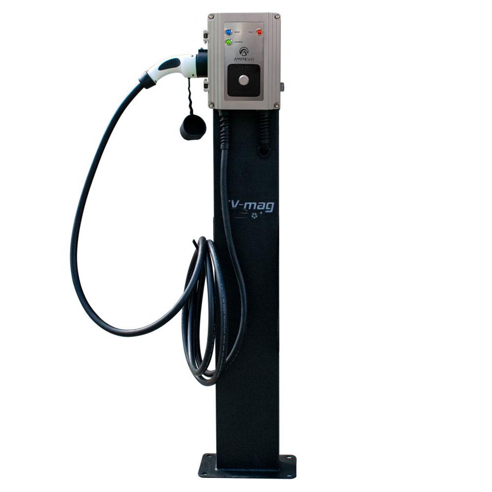 Statie fixa incarcare masini electrice EV-MAG GS322T2GCS-CP, RFID, 22 kW, Type 2, trifazat, comutator de putere, montaj pe stativ