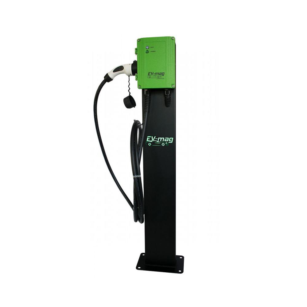 Statie fixa incarcare masini electrice EV-MAG GS322T2GCS-N, 22 kW, Type 2, trifazat, montaj pe stativ