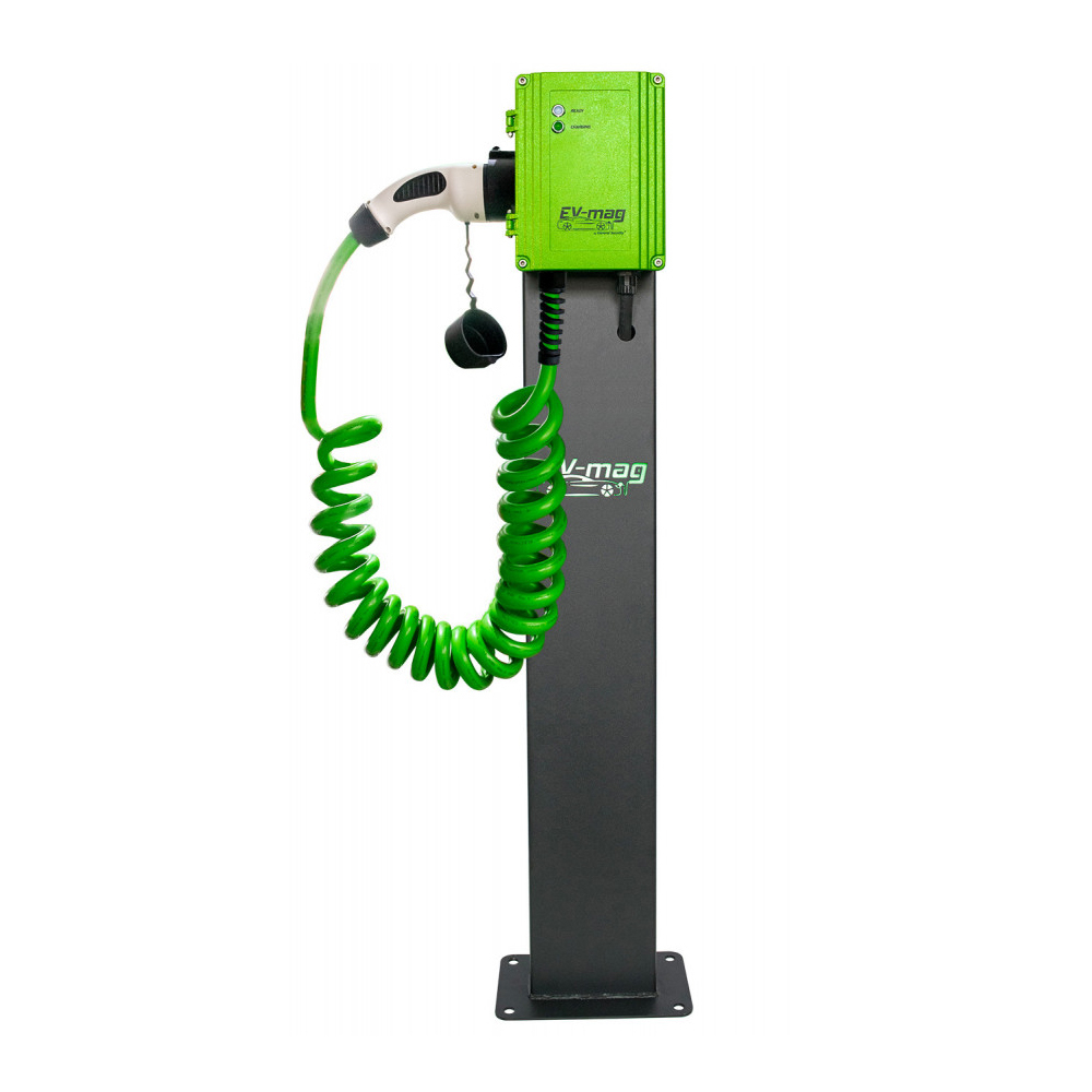 Statie fixa incarcare masini electrice EV-MAG GS322T2GCS-SVN, 22 kW, Type 2, trifazat, montaj pe stativ imagine spy-shop.ro 2021
