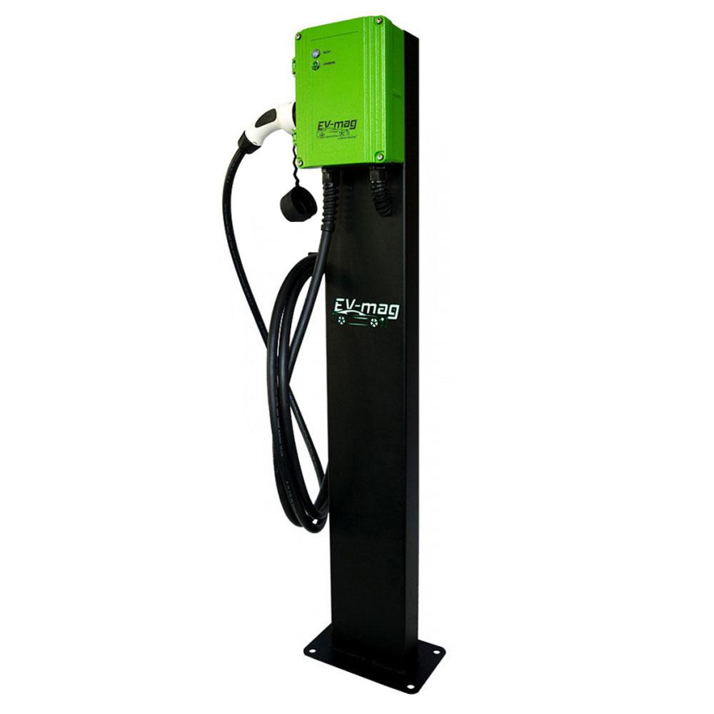 Statie fixa incarcare masini electrice EV-MAG SGS311T2GCS, 11 kW, Type 2, trifazat, montaj pe stativ imagine spy-shop.ro 2021