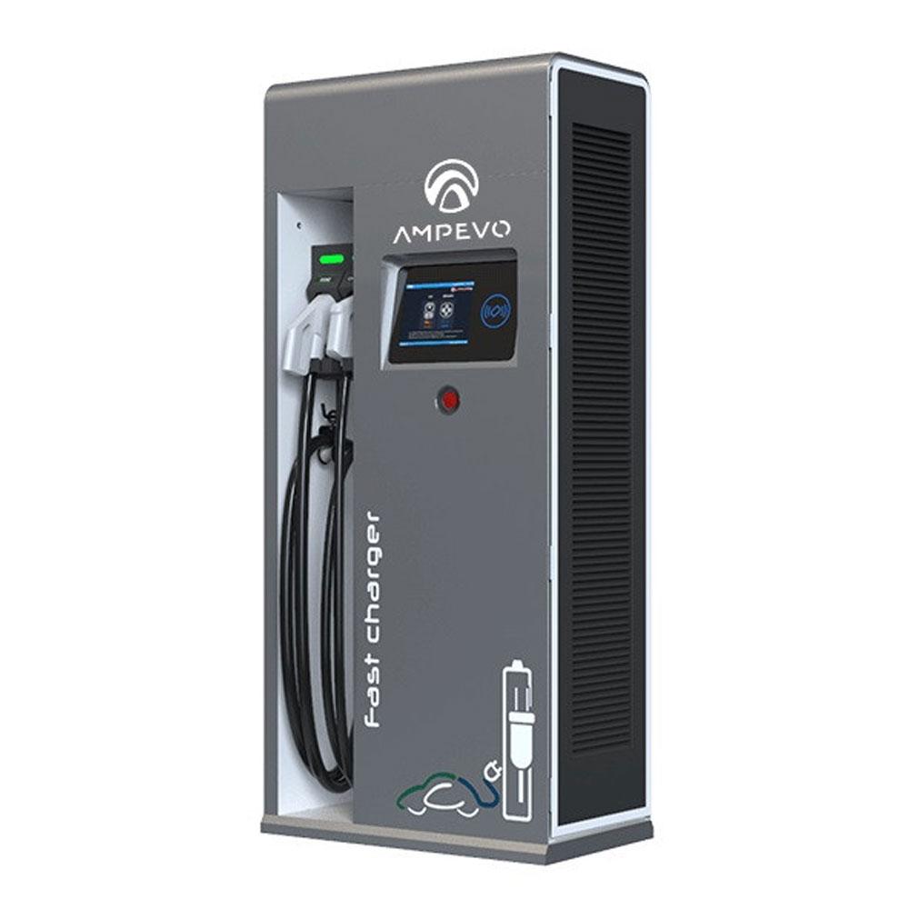 Statie incarcare masini electrice EV-MAG AMPEVO DC 60 KW, RFID, 4G, ecran LCD, CCS 2, incarcare 2 masini, alimentare 3P 400V de la EV-MAG