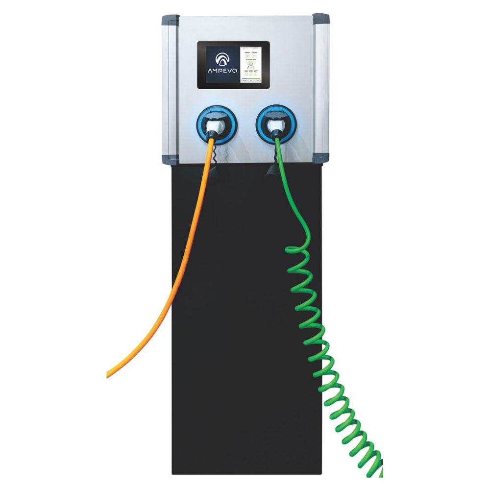 Statie incarcare masini electrice EV-MAG AMPEVO GS344T2OO - IK10, RFID, ecran tactil 10 inch, 2x22 kW, Type 2, trifazat imagine spy-shop.ro 2021