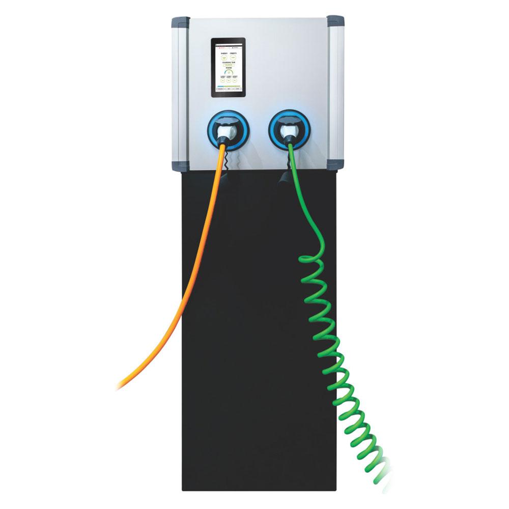 Statie incarcare masini electrice EV-MAG AMPEVO GS344T2OO, RFID, ecran tactil 7 inch, 2x22 kW, Type 2, trifazat imagine spy-shop.ro 2021