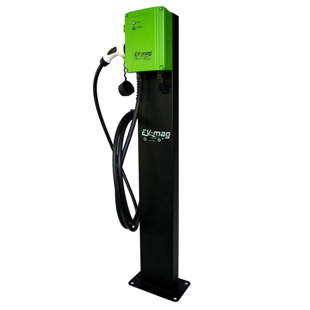 Statie incarcare masini electrice EV-MAG GS107T1GCS, 7 kW, type 1, monofazat, montaj pe stativ imagine spy-shop.ro 2021