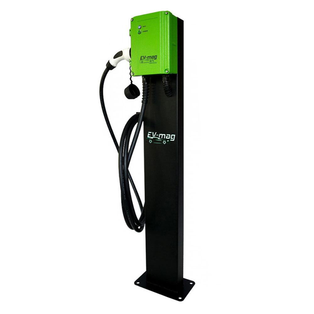Statie incarcare masini electrice EV-MAG GS107T2GCS-N, 7 kW, type 2, monofazat, montaj pe stativ