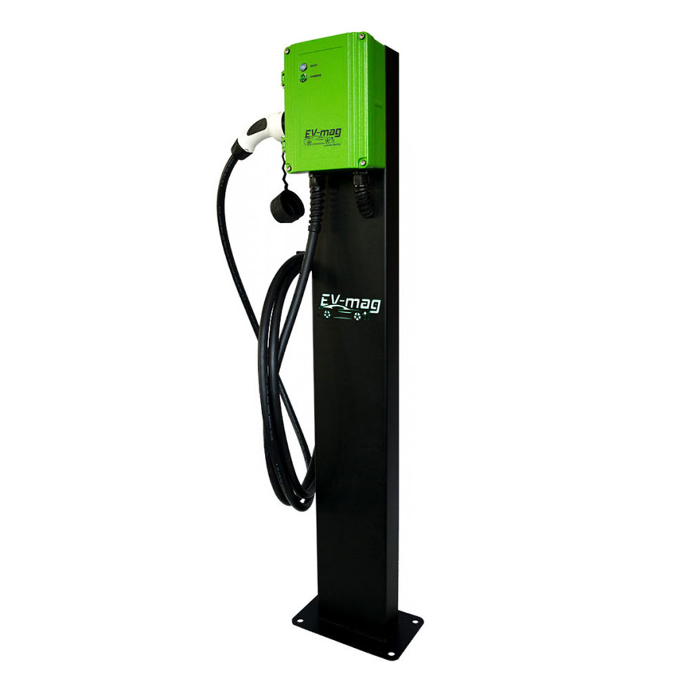 Statie incarcare masini electrice EV-MAG GS107T2GCS, 7 kW, type 2, monofazat, montaj pe stativ