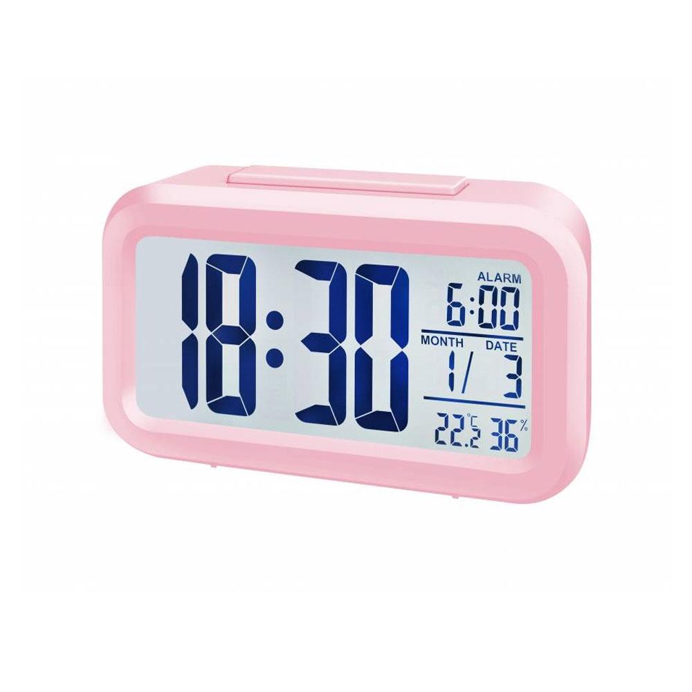 Statie meteo Bresser MyTime Duo 8010017, termometru, higrometru, alarma, roz