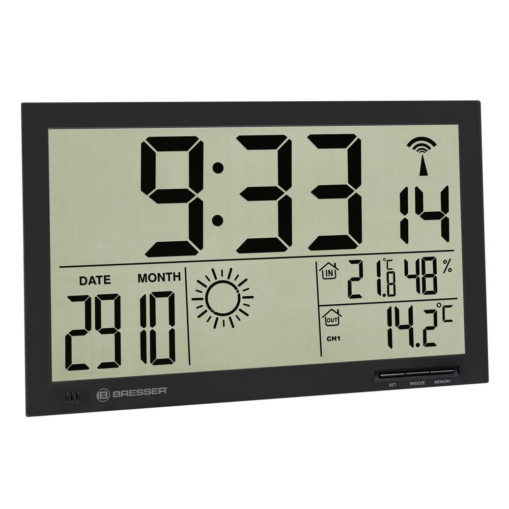 Statie meteo Bresser MyTime Jumbo 7001800CM3000, termometru, higrometru, alarma