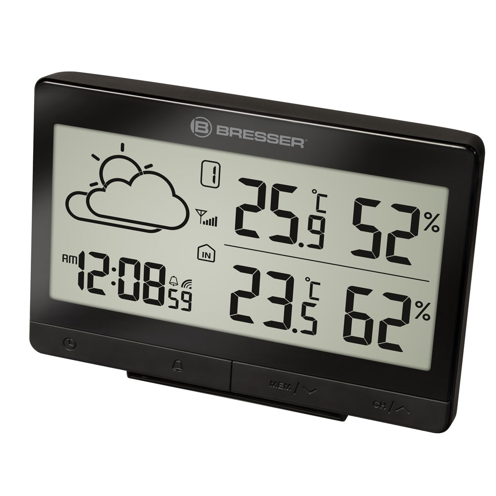 Statie meteo Bresser TemeoTrend LGX RC 7004502CM3000, termometru, higrometru, alarma