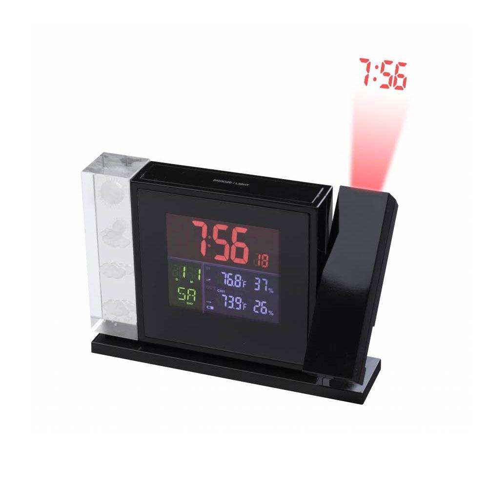 Statie meteo cu proiector Bresser MyTime 7060100, termometru, higrometru, alarma
