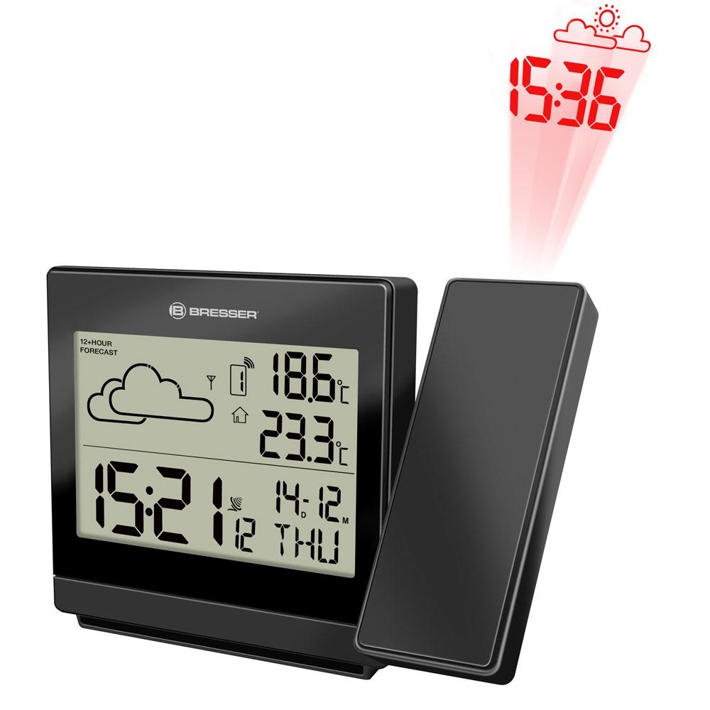 Statie meteo cu proiector Bresser P RC 7004403CM3000, termometru, alarma