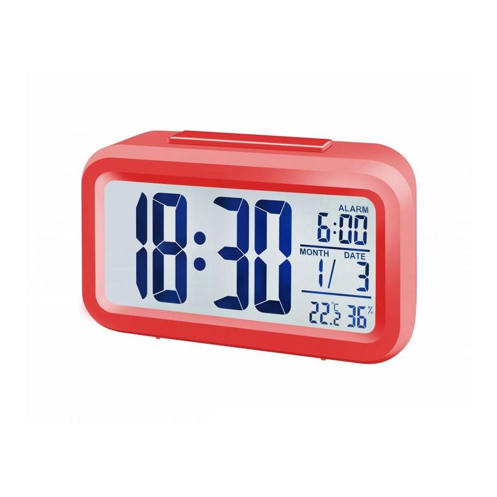 Statie meteo Bresser MyTime Duo 8010012, termometru, higrometru, alarma, rosu