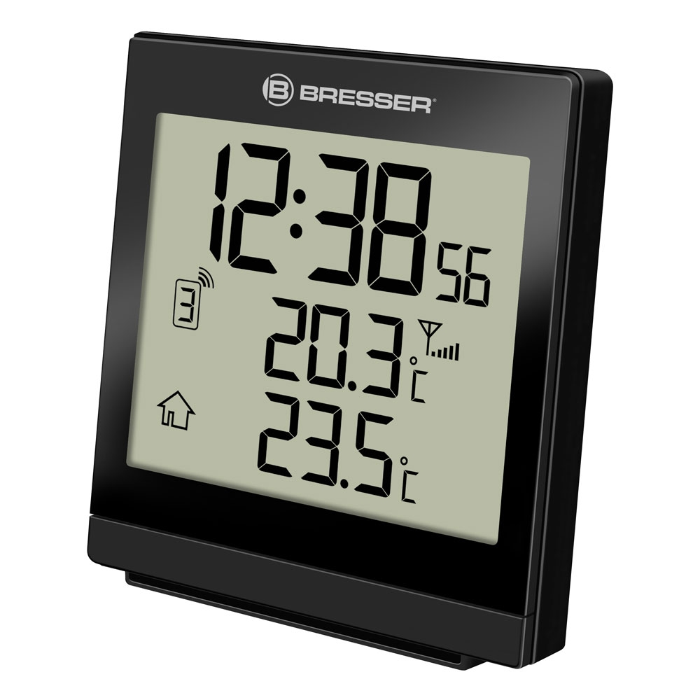 Statie meteo wireless Bresser SQ 7004400CM3000, termometru, alarma imagine spy-shop.ro 2021