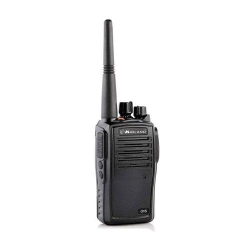 Statie radio PMR Midland G15 C1127, 446 MHz, 8 canale PMR + 8 preprogramate imagine spy-shop.ro 2021