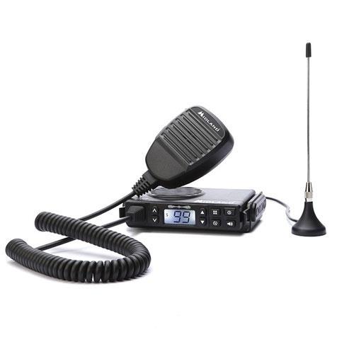 Statie radio PMR mobila Midland GB1 cu antena magnetica C1198, 446 MHz, 8 canale + 91 programabile imagine spy-shop.ro 2021
