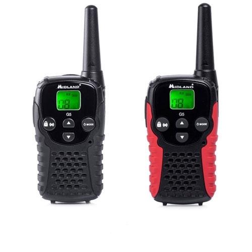 Statie radio PMR portabila Midland G5C C1192, 446 MHz, 8 canale imagine spy-shop.ro 2021