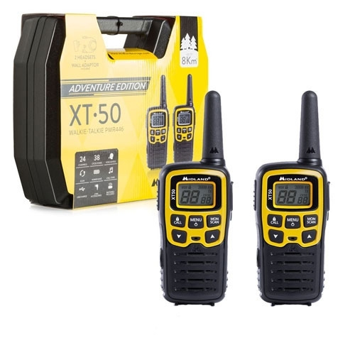 Statie radio PMR portabila Midland XT50 Adventure C1178.01, 446 MHz, 24 canale imagine spy-shop.ro 2021